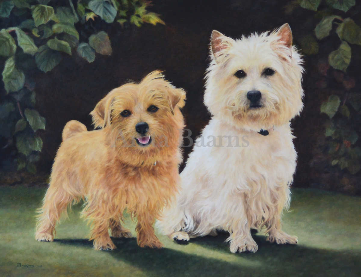 Chessie and Willow Oil on Linen, 2015